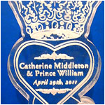 Catherine & Wiliam Crowned Heart